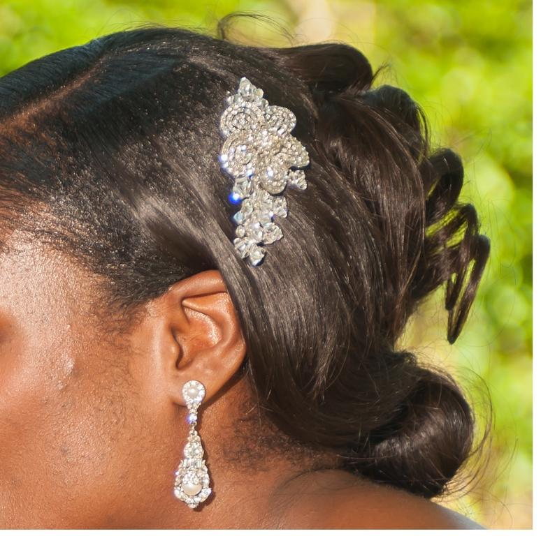 Wedding Hairstyles In Jamaica: Used Maria Elena Headpieces And Accessories Tiara/Hair
