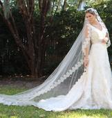 New With Tags/ Unaltered Diamond White Veil