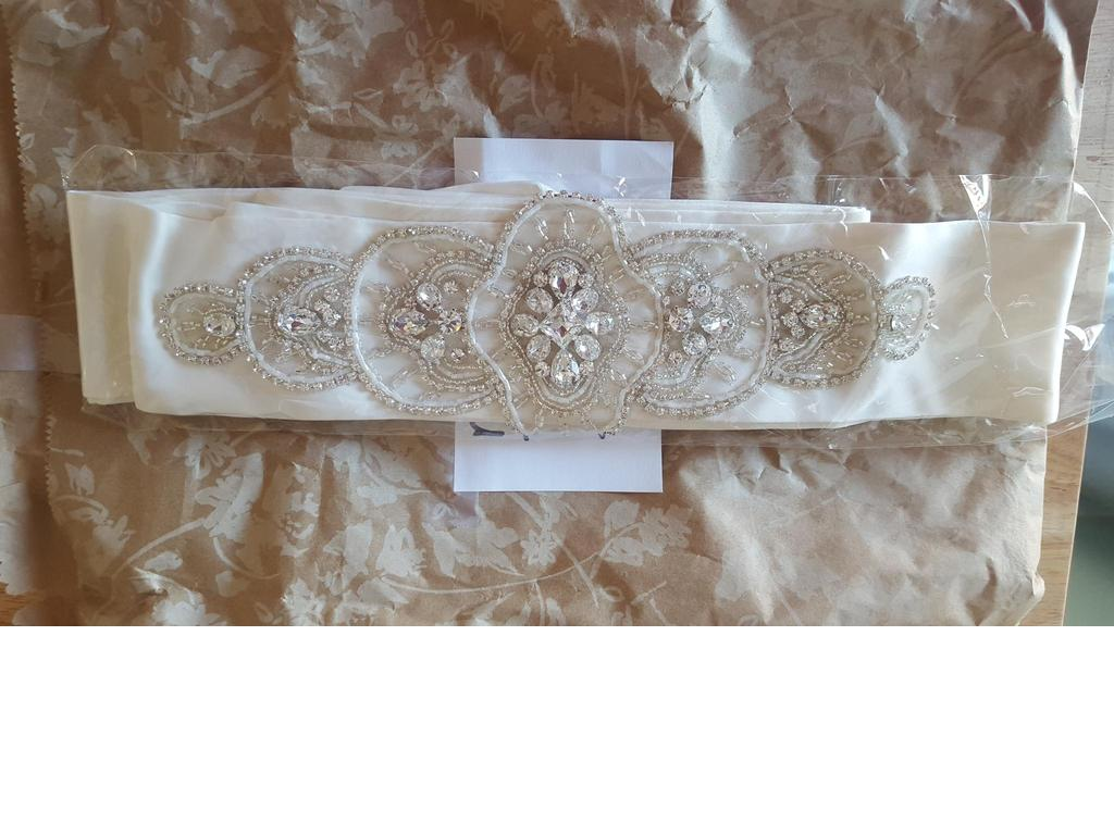 New sash belt 125 bridal accessories toms river for Wedding dress accessories belt