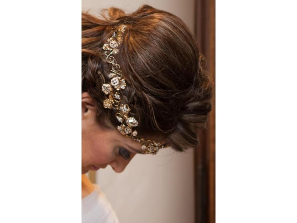 bridal hair accessories houston: fall texas wedding.