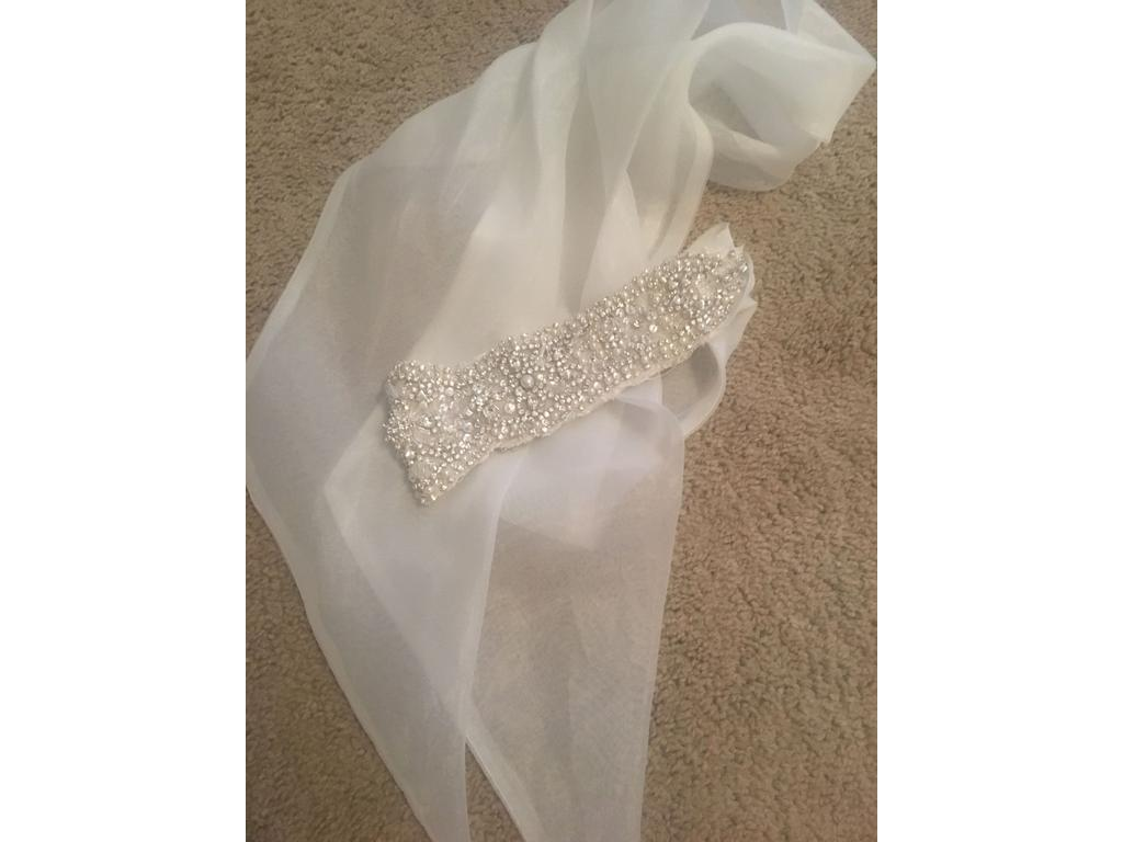 Used allure bridal sash belt 250 bridal accessories for Wedding dress accessories belt
