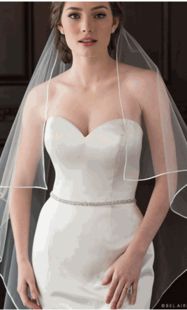 Used Belle Aire Bridal Veil 100