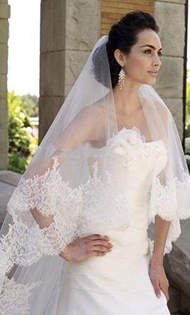 Used wedding accessories for sale new un altered ivory veil junglespirit Choice Image
