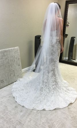 Crystal Bridal Belt Wedding Dress Vail Lace