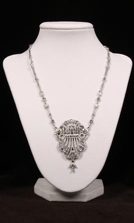 Cristal D'or Rhinestone Necklace/earring Set Fashion Jewelry