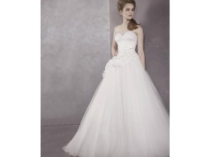 Vera Wang White VW351112, $350 Size: 10 | New (Un-Altered) Wedding ...