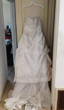 David's Bridal Strapless Sweetheart Pick-Up Ball Gown /WG3239 14