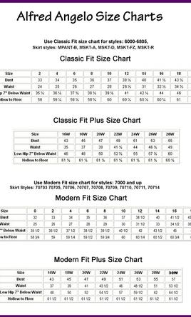Bridesmaid Dresses Alfred Angelo Size Chart