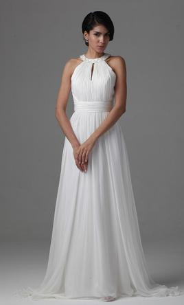 Other flowy and light sheer chiffon gown 150 size 8 for Flowy white wedding dress