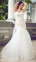 Other Lace Trumpet Wedding Gown with Beaded StrapsSize2  10