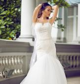 Other Lace Trumpet Wedding Gown with Beaded StrapsSize2