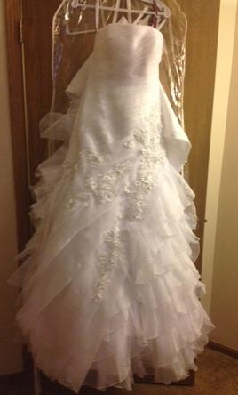 Mary 39 s bridal s12 c7850 350 size 8 new un altered for Places to donate wedding dresses