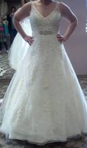 Mori Lee 1915 Venice Lace Appliques on Tulle over Chantilly 16