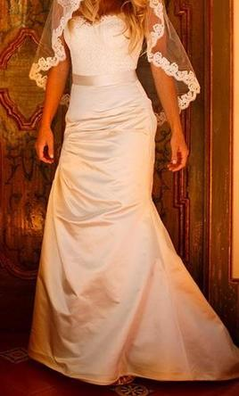 Monique Lhuillier Mystique Corset Top/ Magical Skirt in Latte, $750 ...