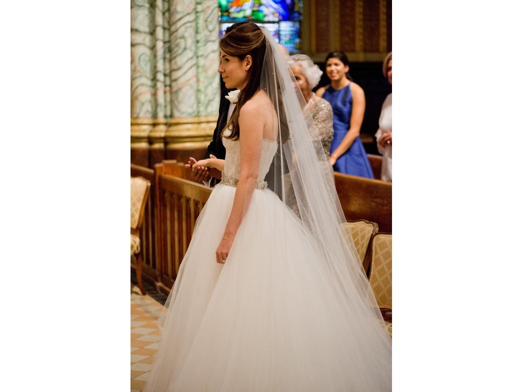 Monique Lhuillier augustine and lilac tulle skirt, $675 Size: 2 ...