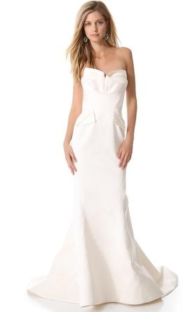 Zac posen zac posen 1 000 size 0 new un altered for Zac posen wedding dresses sale