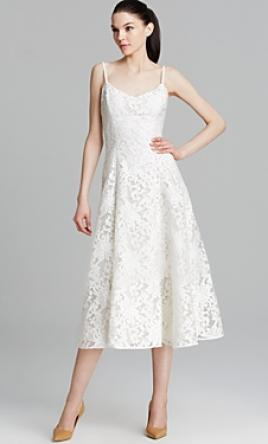 Tea length wedding dresses preowned wedding dresses for Vera wang tea length wedding dress