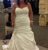 David's Bridal Sweetheart Fit and Flare