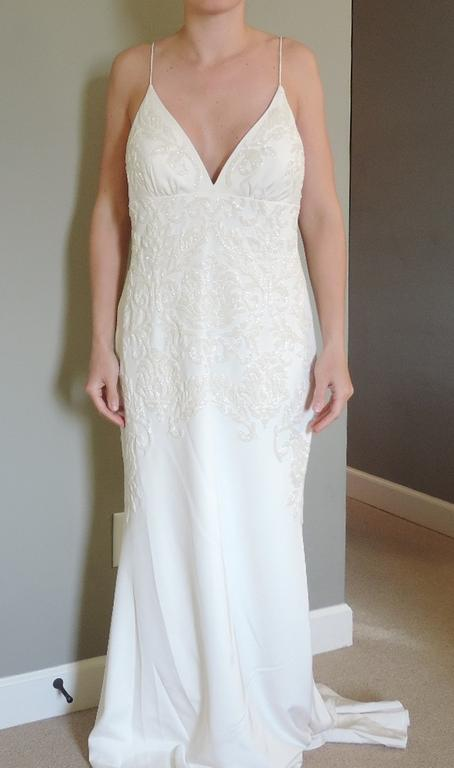 Nicole miller annabel 550 size 12 new un altered for Nicole wedding dress prices