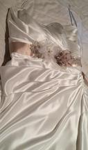 David's Bridal Strapless A Line Gown 16