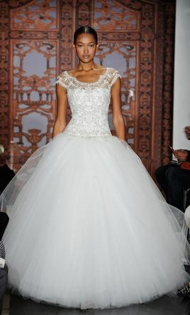 Reem Acra Full of Luck/4824 w/ Veil 4