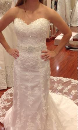 Maggie Sottero Emma Marie Extended Train 2300 S 1070 900 Size 6 New Un Altered Wedding Dresses