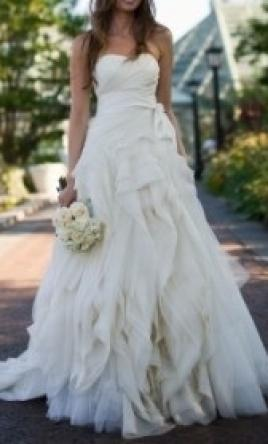 Vera wang diana 3 321 size 4 used wedding dresses for Vera wang diana wedding dress