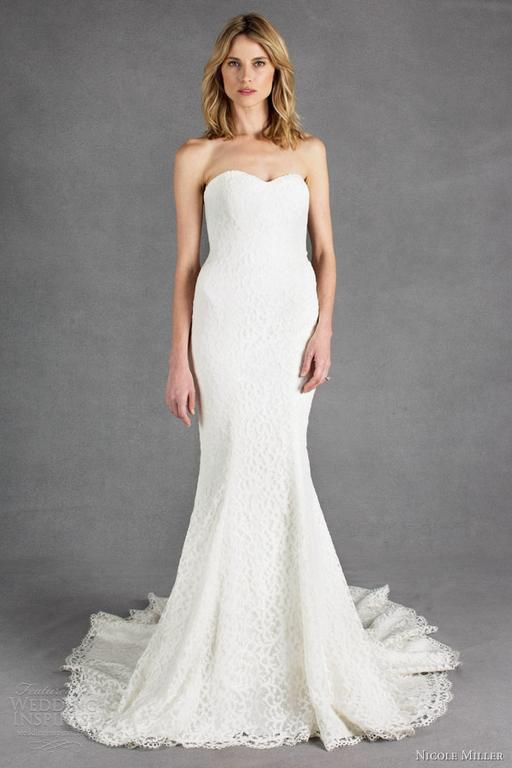 Nicole miller poppy 800 size 2 new un altered for Nicole wedding dress prices