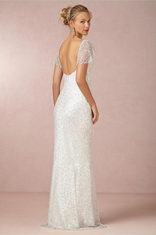 Bhldn Snowflake 995 Size 10 New Un Altered Wedding