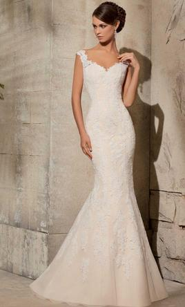 Mori lee lace wedding gown by blu by mori lee 5316 699 for No lace wedding dress