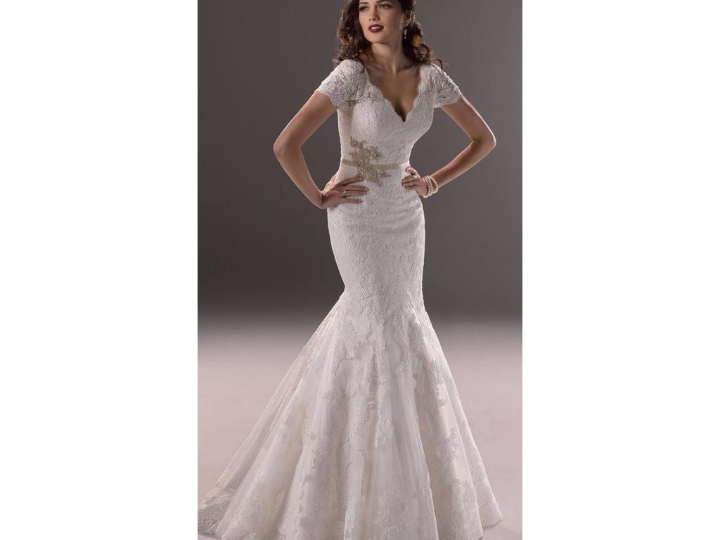 Used Wedding Gowns: Maggie Sottero Veda, $399 Size: 12