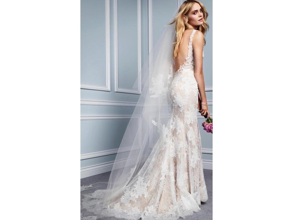 Awesome Monique Lhuillier Lace Wedding Dress Sketch - All Wedding ...