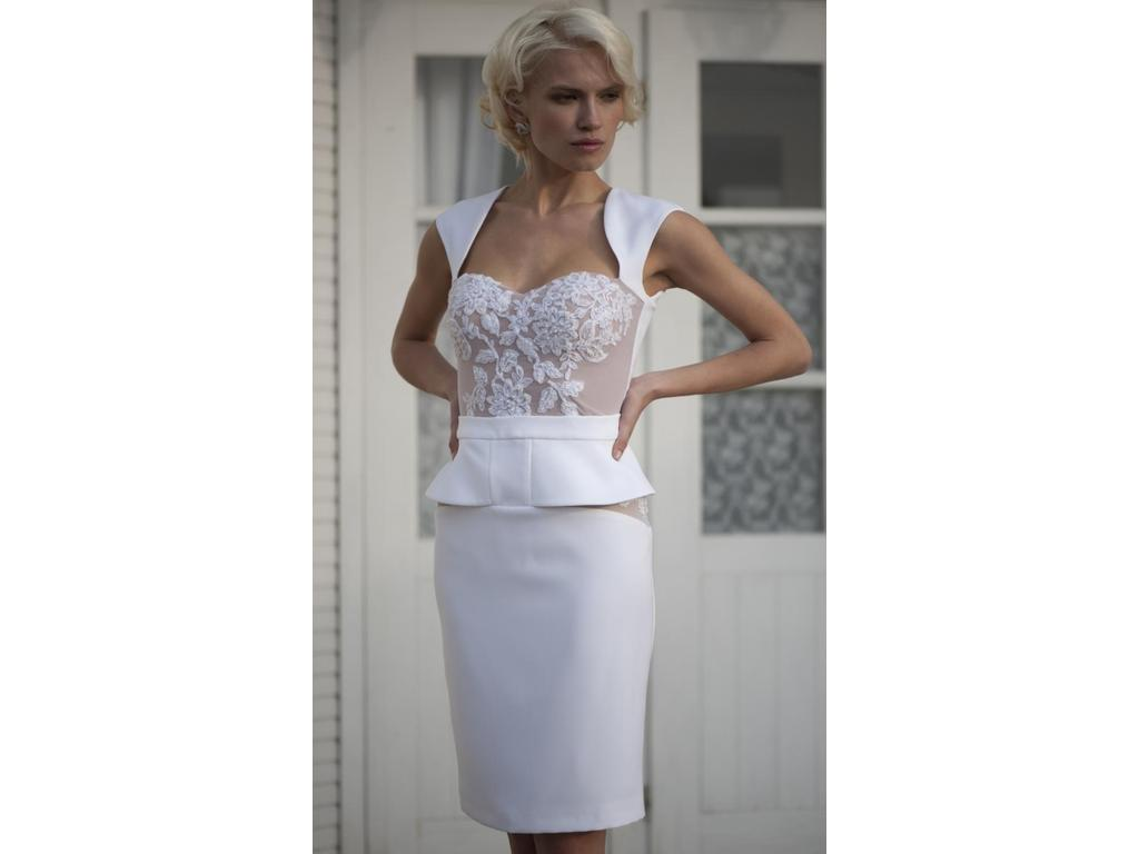 Other apilat short wedding dress l1 567 size 8 new for Wedding dresses colors other than white