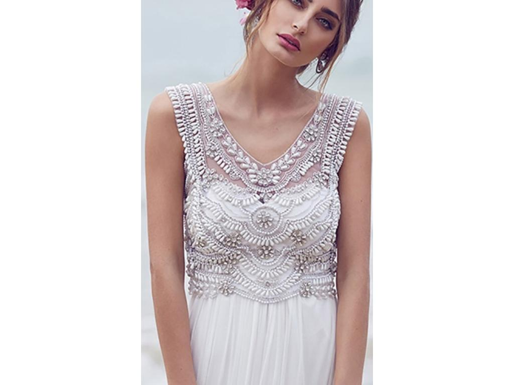 Anna campbell 1 900 size 8 sample wedding dresses for Anna campbell wedding dress for sale