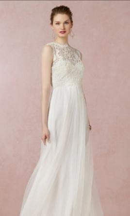 Pin It Bhldn Annabelle Dress With Lace Topper 4