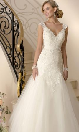 Stella York CAP SLEEVE WEDDING DRESS STYLE 5949 12