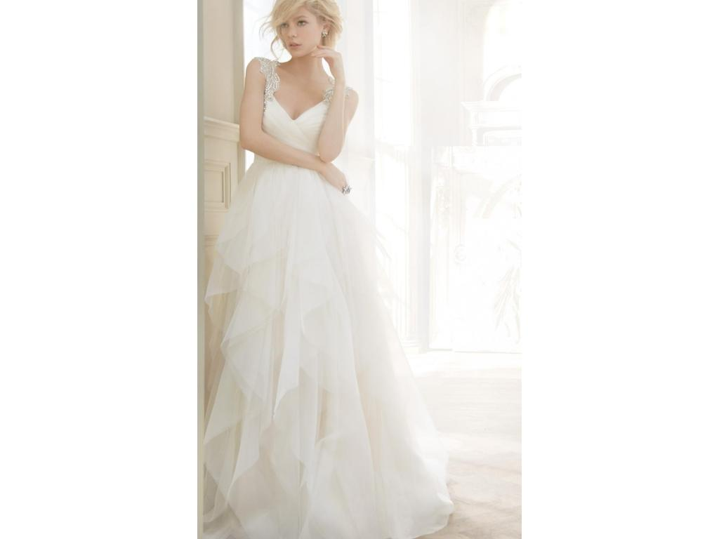 Hayley Paige 6350 - Carrie, $1,525 Size: 8 | Used Wedding Dresses