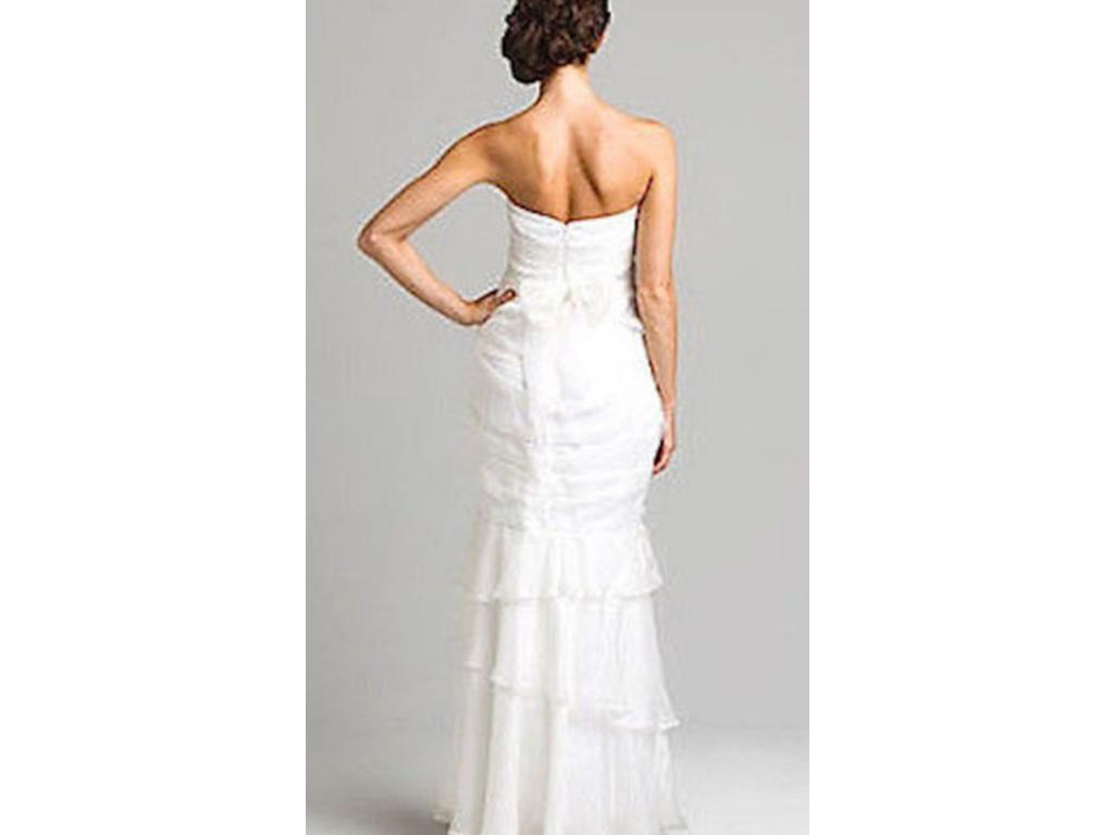 Other f White Silk Strapless Gown $174 Size 10