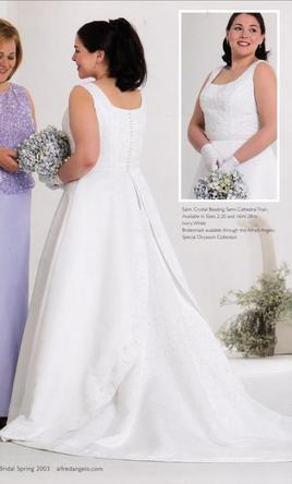 Alfred Angelo 1553W Sweet, simple and a little sparkle 18W