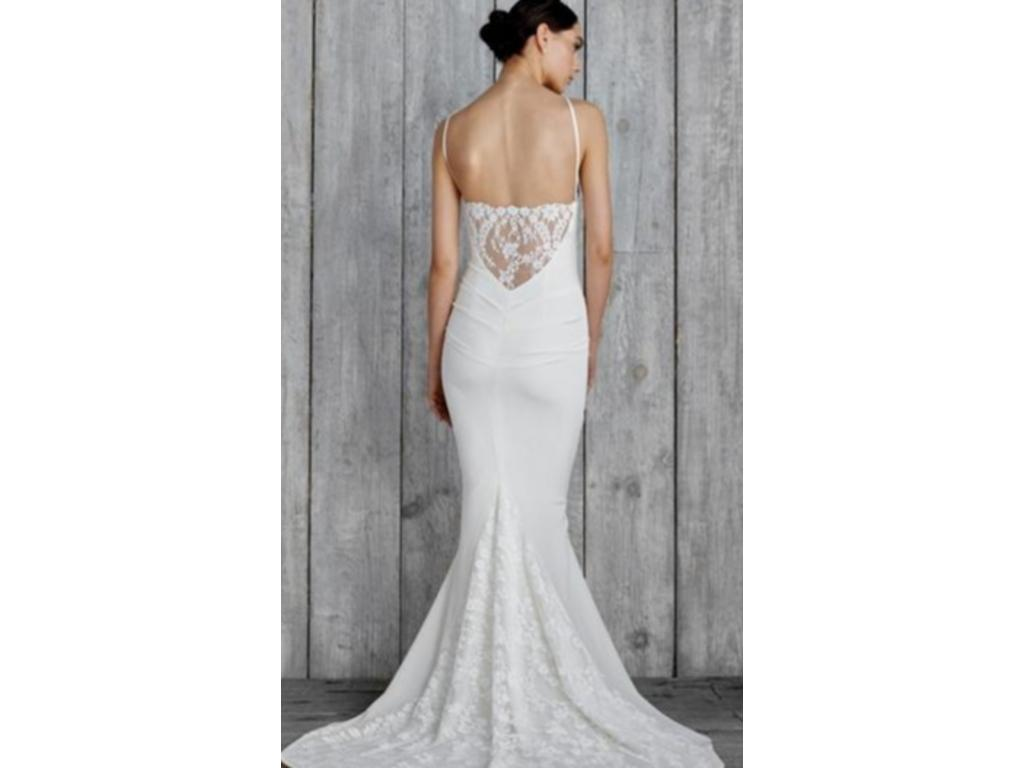 Nicole miller gh10006 805 size 4 new un altered for Nicole wedding dress prices
