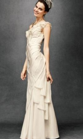BHLDN Ribboned Silk Gown