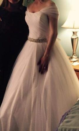 David's Bridal Tulle Ball Gown 4