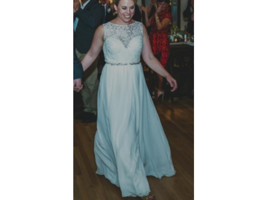 Used Wedding Gowns: Sarah Seven Mademoiselle, $900 Size: 12