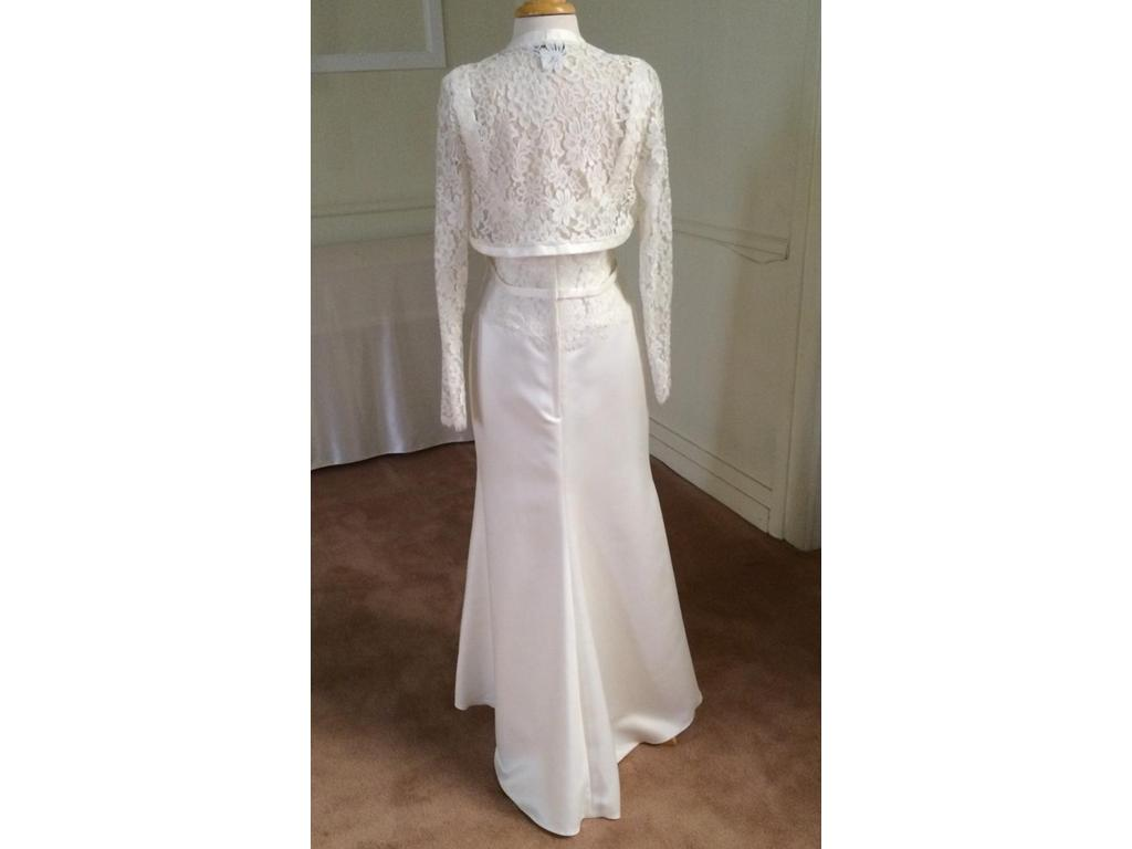 Jessica McClintock 22123 Lace & Satin Gown with Lace Jacket, $124 ...