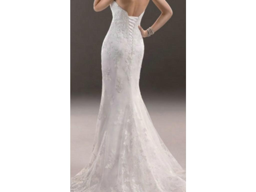 Maggie sottero 500 size 10 new altered wedding dresses for Size 10 wedding dress