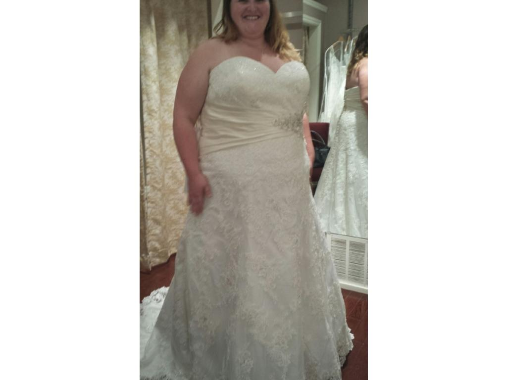 Allure bridals w311 700 size 30 new altered wedding for Size 30 wedding dresses