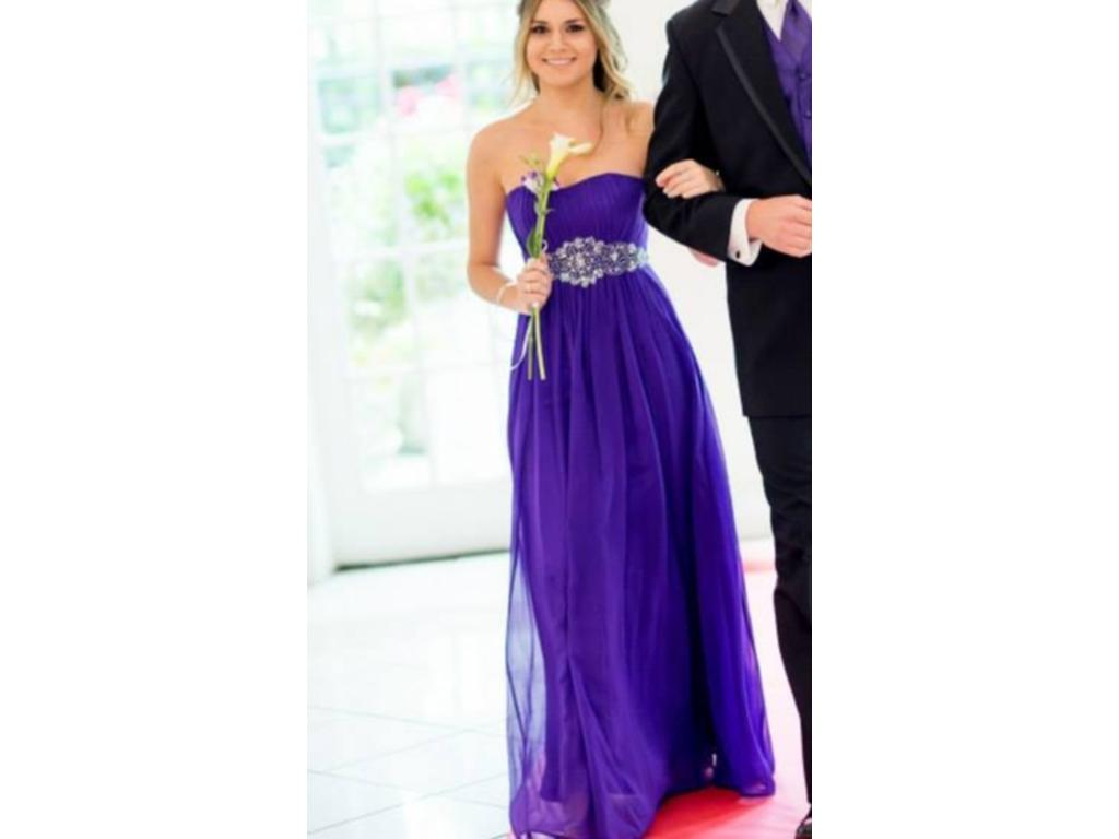 Other Strapless Chiffon Goddess Long Gown , Size: 10 | Bridesmaid ...