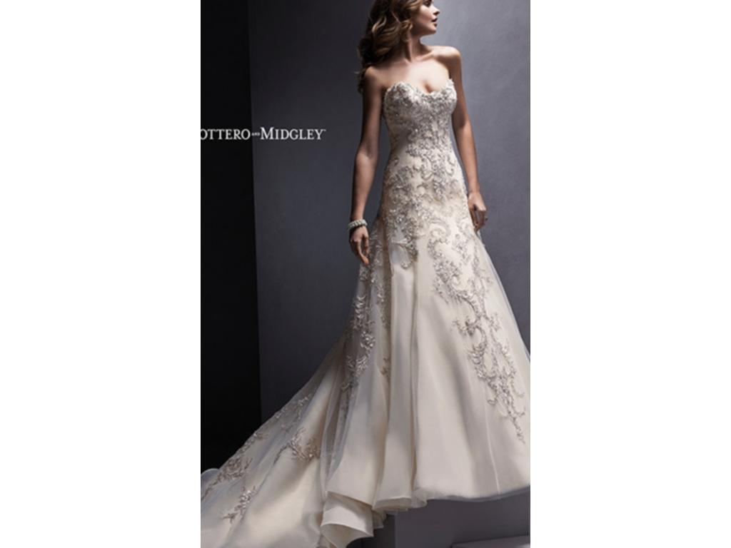 Maggie sottero zariah 700 size 14 new altered for Who sells maggie sottero wedding dresses