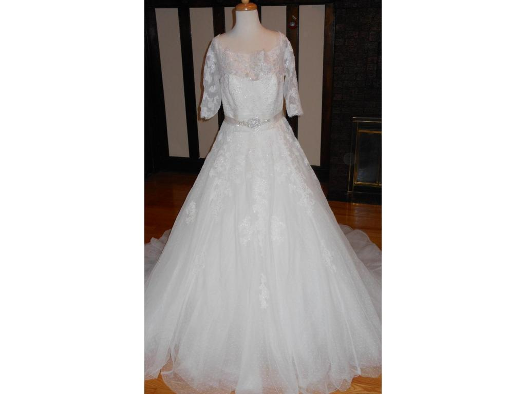 Pronovias best 899 size 14 new un altered wedding for Best place to buy used wedding dresses