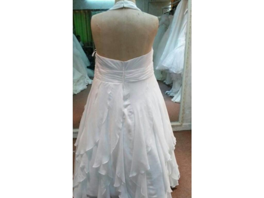 Other Halter Plus Size Wedding Dress $800 Size 24